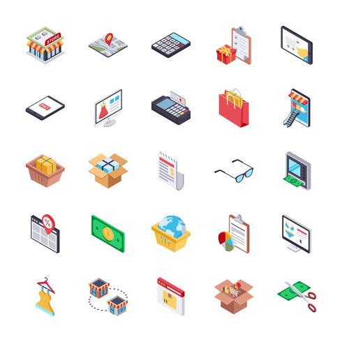 Melhor pacote de ícones de compras on-line vetor