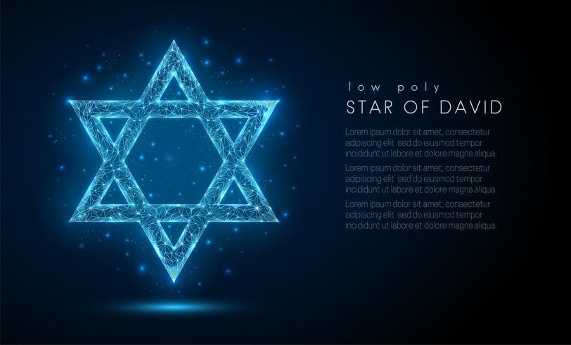 Estrela de Davi. vetor