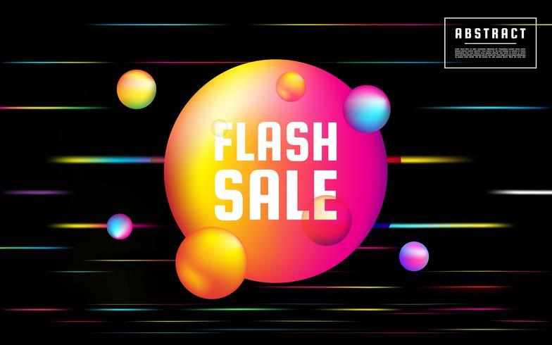 Fundo de venda de flash de néon vetor