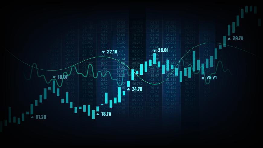 Gráfico de negociação do mercado de ações vetor