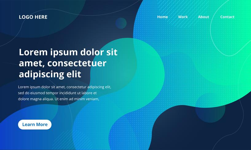 Design de Web de formas líquidas vetor