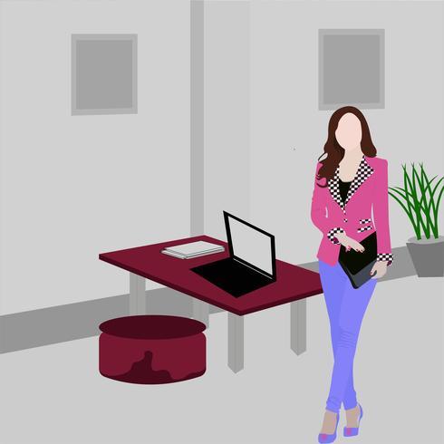 Mulheres no seu local de trabalho vetor