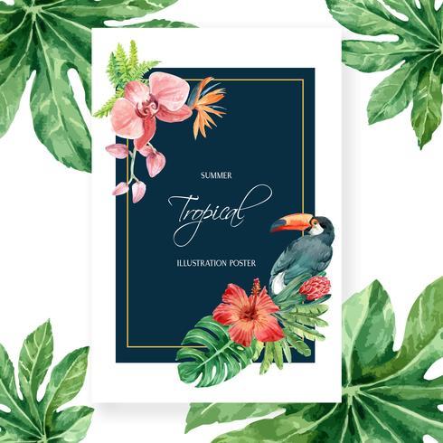 Design de Poster Tropical vetor