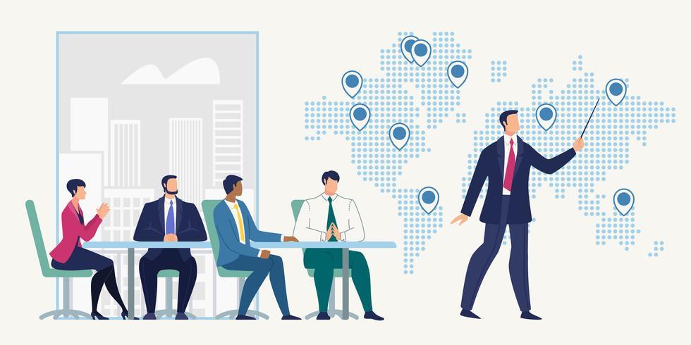 Reunião de negócios no escritório da empresa vetor