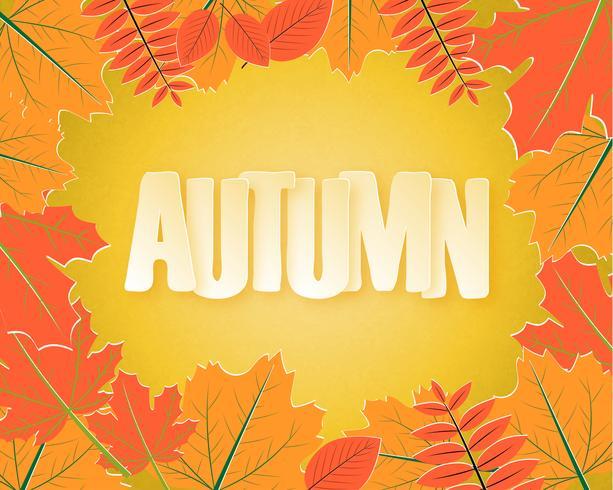 Outono folhas fundo vetor