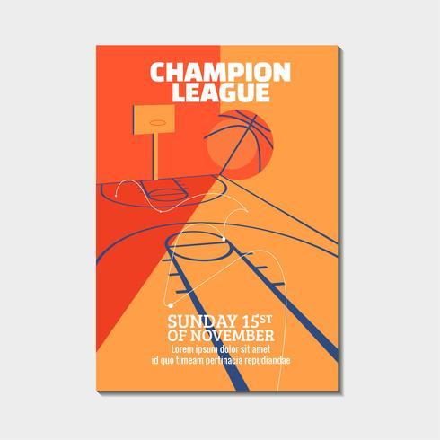 Cartaz de basquete moderno vetor