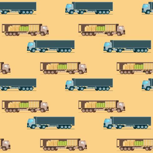 Padrão sem emenda de caminhão de entrega de peso de armazenamento vetor