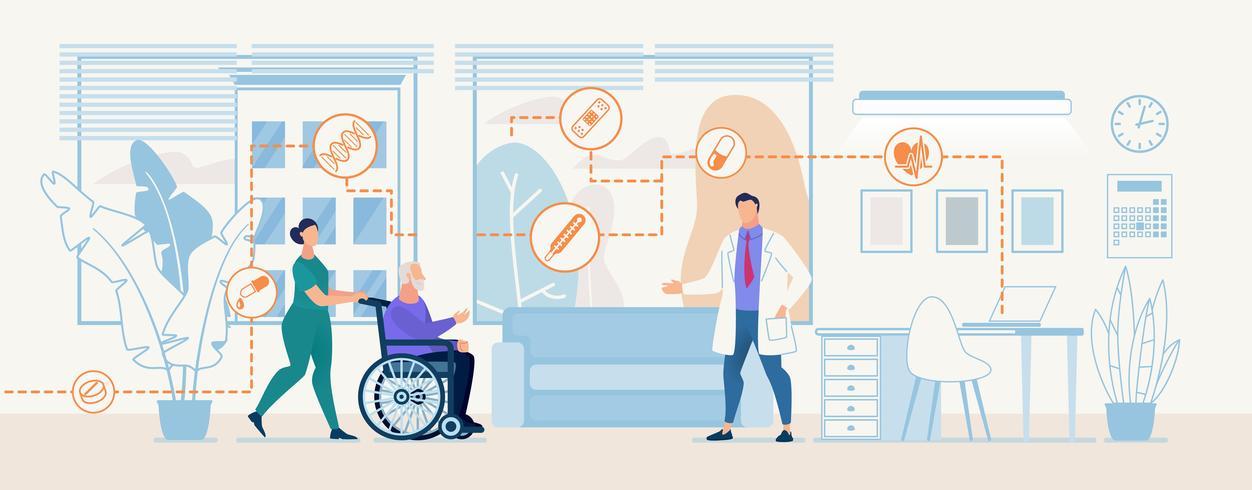 Tratamento de diagnóstico profissional Med Center Banner vetor
