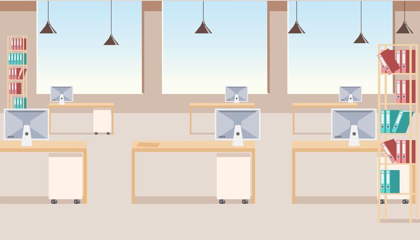 Interior de escritório de empresa de negócios modernos vetor