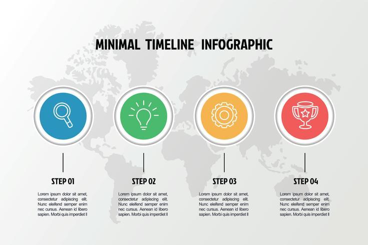 modelo de infográfico de ícones de negócios vetor