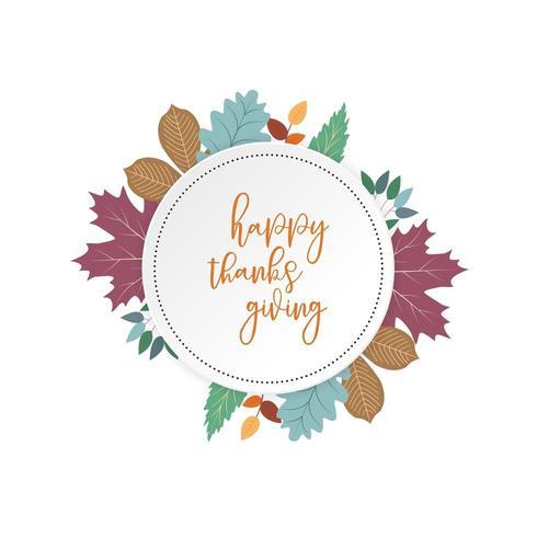 Design de cartão colorido feliz Ação de Graças vetor