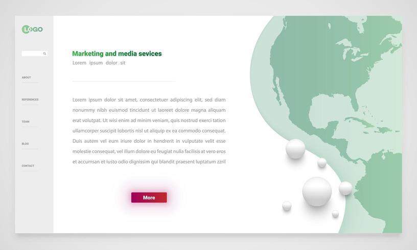 Modelo de site de marketing vetor