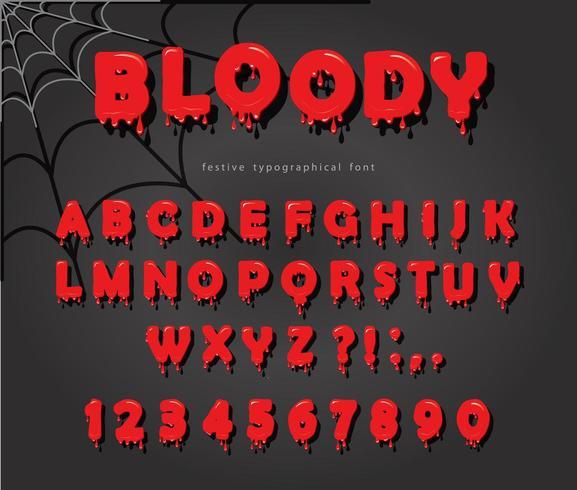 Fonte de sangue de Halloween vetor