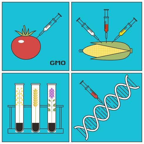 Conceito de Pesquisa de Plantas Geneticamente Modificadas vetor