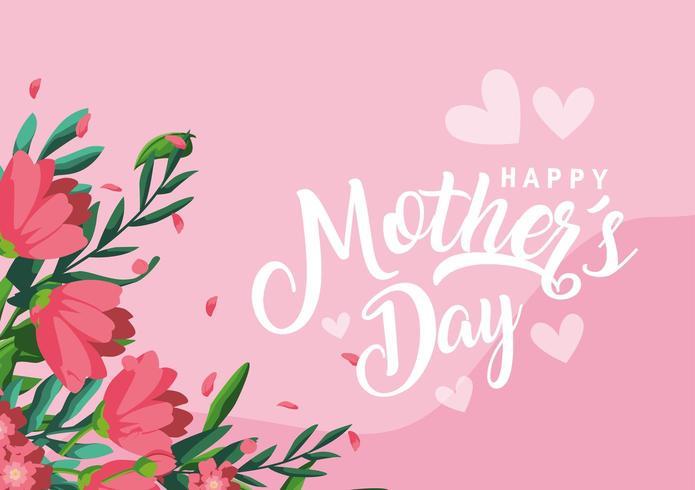 feliz dia das mães decoração vetor