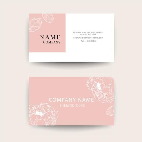 Cartões de visita para mulheres e empresa de beleza vetor