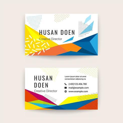 Design de modelo moderno de cartão de visita vetor