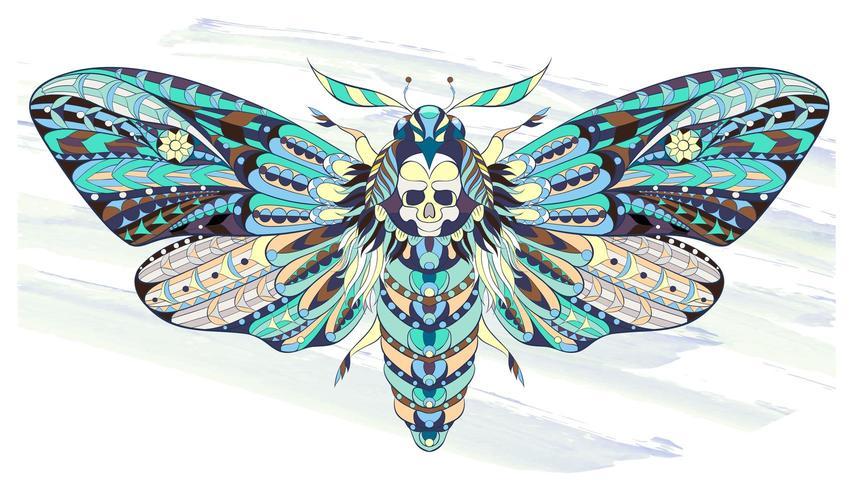 Modelado borboleta ou mariposa em fundo grunge vetor