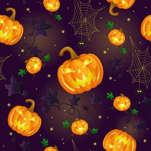 Padrão sem emenda para halloween vetor