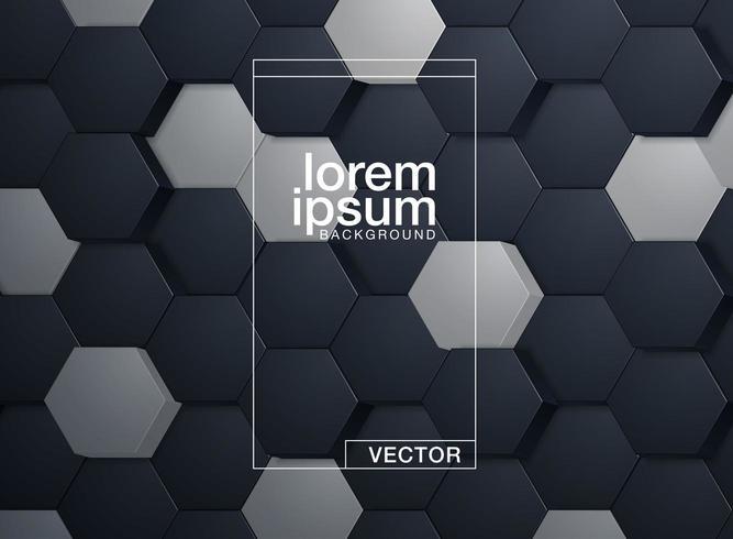 Resumo padrão hexagonal vetor