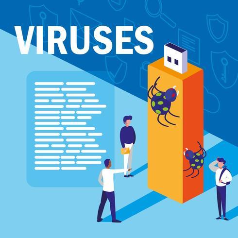 Vírus informáticos vetor