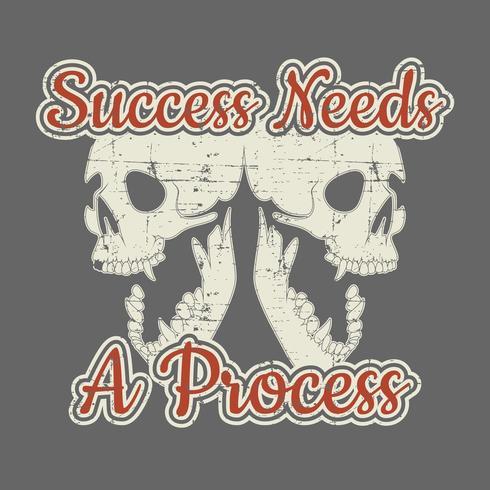 Modelo de design de t-shirt de sucesso vetor