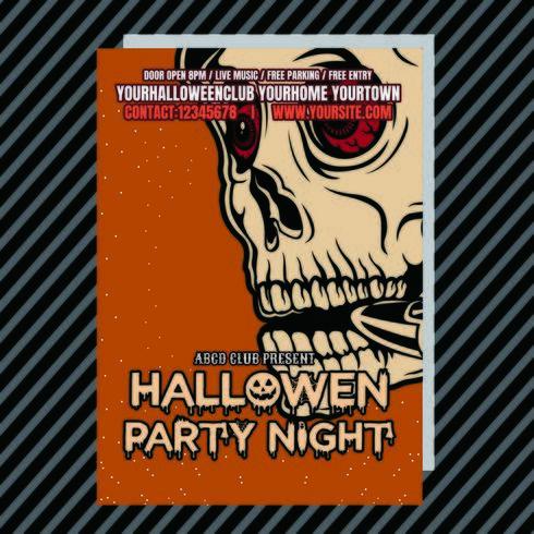 Insecto do clube do convite da festa de Halloween vetor