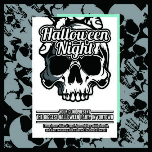Panfleto de convite de festa de Halloween de grunge vetor