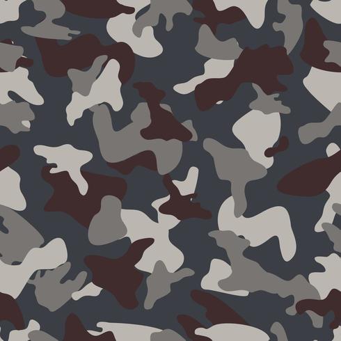 Padrão de cor perfeita de camuflagem cinza vetor