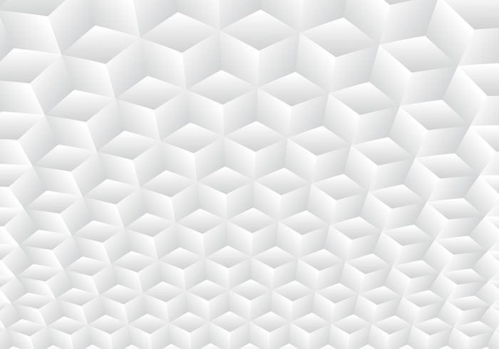 Gradiente de simetria geométrica realista 3D branco e cinza vetor