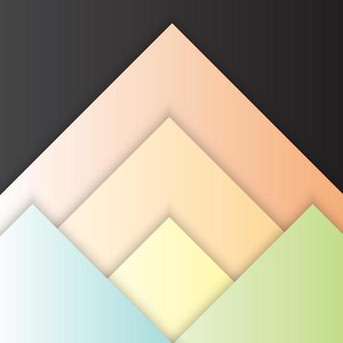 Design de material triângulo com sombra vetor