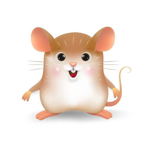 Desenho da personalidade do pequeno rato vetor