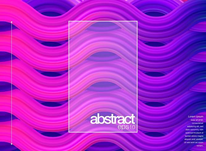 Cartaz de onda de fluxo roxo moderno vetor