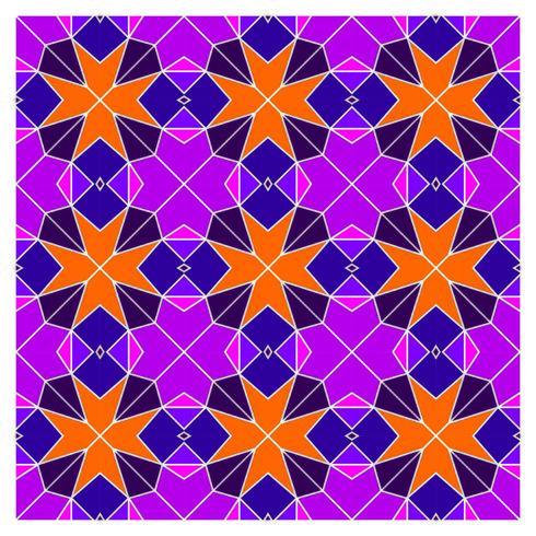 Padrão sem emenda geométrico de vitral vetor