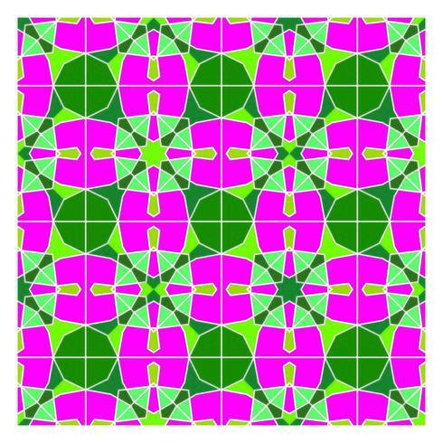 Padrão sem emenda geométrico de estilo retro vetor