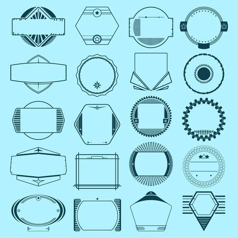 Conjunto de insígnias, emblemas, etiquetas vetor