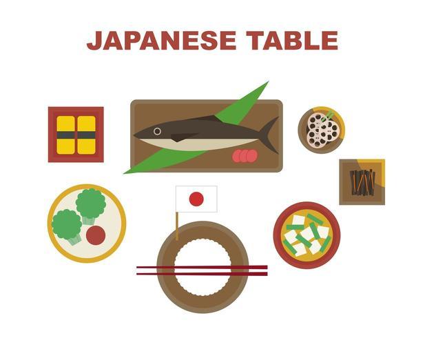 Conjunto de refeição japonesa vetor