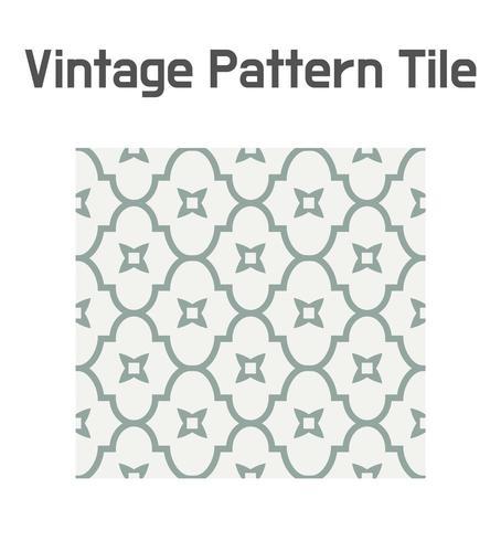 Padrão de azulejo geométrico simples. vetor