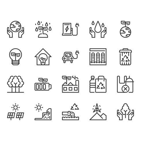 Salve o conjunto de ícones do mundo vetor