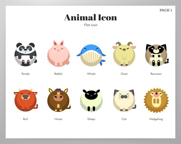 Pacote de ícone animal vetor