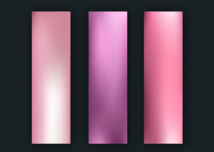 Banners de ouro rosa vetor