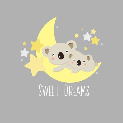 Cartão do Koala dos sonhos doces vetor