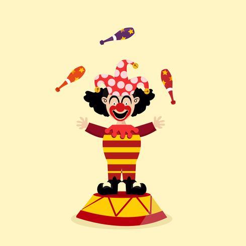 malabarista de palhaço de circo vetor