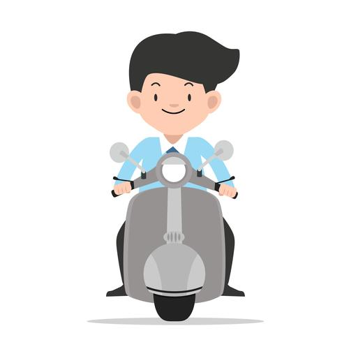 moto de condução vista frontal moto vetor
