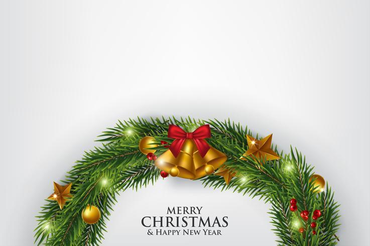 Cartão branco do Feliz Natal vetor
