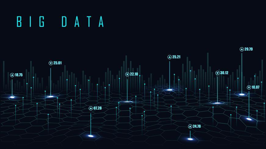 Fundo de grande volume de dados vetor