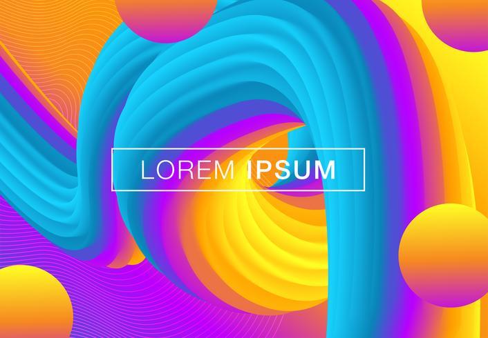 Fundo geométrico gradiente futurista vetor