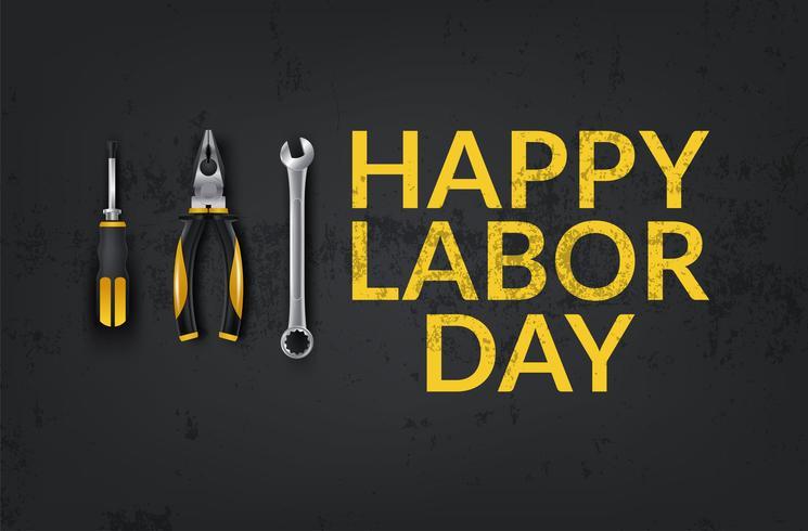 Feliz Dia do Trabalho vetor