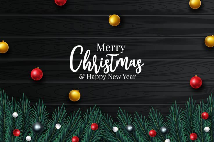 Feliz Natal e feliz ano novo 2020 cartão vetor