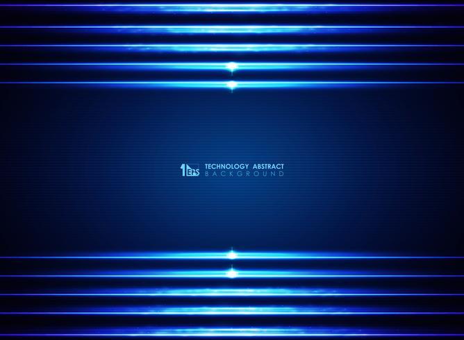 Fundo de linhas azuis modernas lasers futuristas vetor